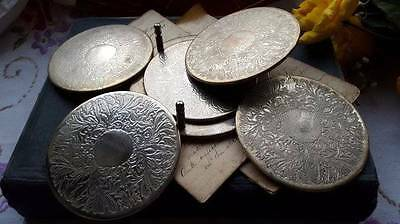 Vintage Silver Plated Coasters and Stand