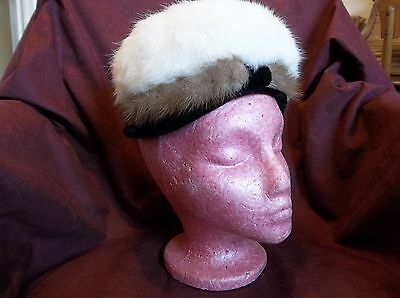 Vintage Ladies Fur Hat, Union Made In The Usa