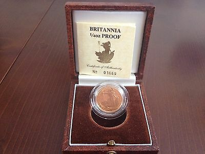 1987 Gold Proof Britannia With Certificate And Box 01669