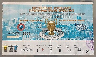 1994 Champions League Final Ticket Milan V Barcelona