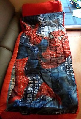 SPIDER-MAN JUNIOR READY BED NEW SPIDERMAN SLEEPING BAG READYBED with pump & bag