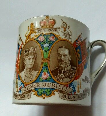 Empire mug . Silver jubilee of King George and queen Mary