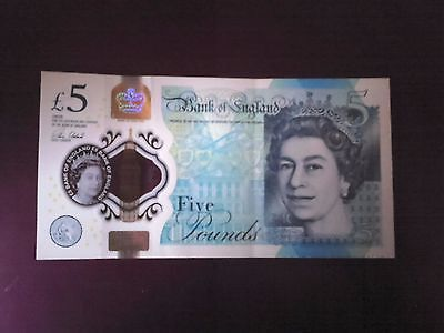 New Polymer £5 Note AA06 Serial Number