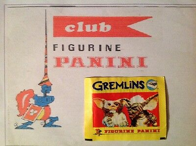 Panini pochette bustina stickers GREMLINS pack tute sealed TOP RARE 1984