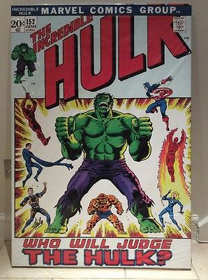 The Incredible Hulk #152 Limited Edition Canvas Signed By Stan Lee Very rare