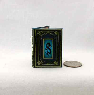 BOOK OF DRAGONS 1:6 Scale Book Illustrated Readable Miniature Book