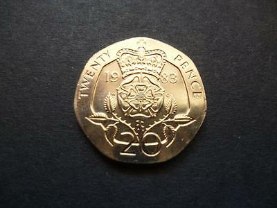 1983 Uncirculated Twenty Pence Piece. 1983 20P Coin In Uncirculated Condition.