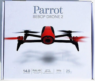 Parrot Quadcopter Bebop 2 Drone 14MP FishEye Camera HD 1080p Red android mac OS