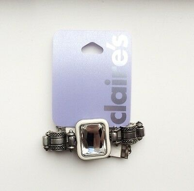 Brand new with tags silver white faux leather bracelet Claires