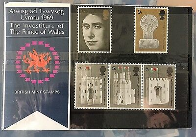The Investiture Of The Prince Of Wales 1969 Mint Stamps