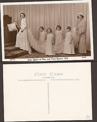 Vintage Postcard- New. Colwyn Bay-Joan,Queen of May - 1936 real photo