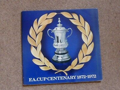 F.A. Cup Centenary 1972  Complete Esso Medal collection