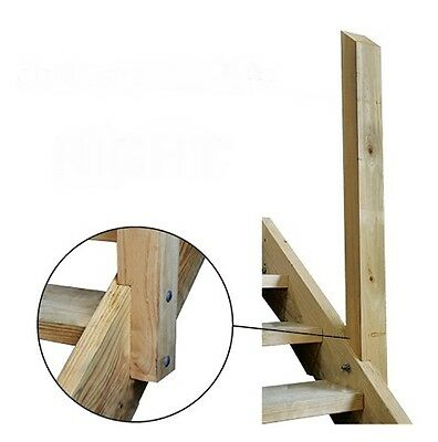Right Hand Handrail Post 90 x 90 x 1200mm Pine Pine Timber Stair Ezi Step New