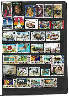 British Stamps COLLECTION From JERSEY USED COLLECTION