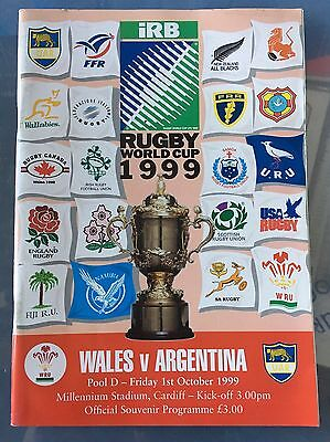 Wales V Argentina 1999 World Cup Opening Game £4.99