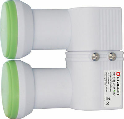 Octagon Flex Feed 0.1dB Monoblock LNB 4 - 15 Degree Separation Diseqc Switch Req