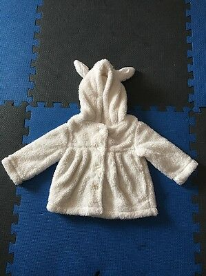 New Baby Girl Jacket Top Coat Hoodie Winter Size 1 White Outwear