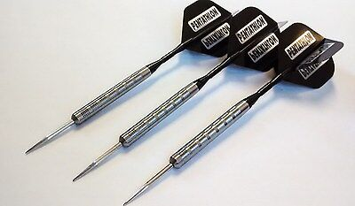 21g Tungsten Darts Set -with Black Ali stems/shafts & Strong Pentathlon flights