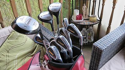 Set of Howson Enforcer golf clubs with bag
