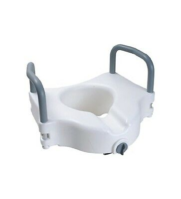Secure® Secure Elevated Toilet Seat With Padded Removable Hand Rails - One Year