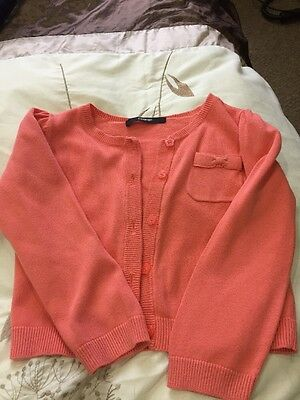 Girls Pink Cardigan. Age 3-4. Good Condition.