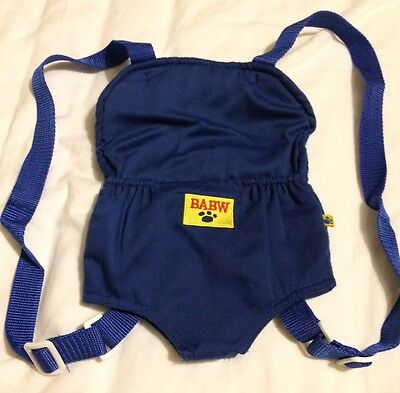 Build A Bear blue carrier with adjustable straps
