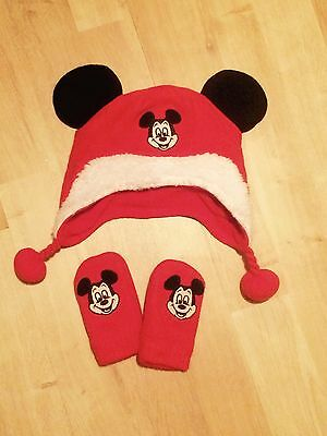 Mickey Mouse Hat And Gloves 0-6 Months