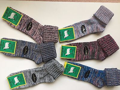 """""""6 pairs LADIES HIGH QUALITY CHUNKY THERMAL WOOL SOCKS HIKE BOOT SIZE 4-7 DGKL"""