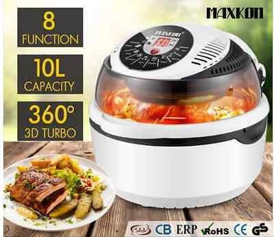 New 10L Low Fat Air Fryer Convection Oven Cooker-Black