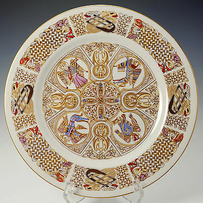 Spode Fine Bona China Collectors Plate ' The Iona Plate ' The  Book of Kells
