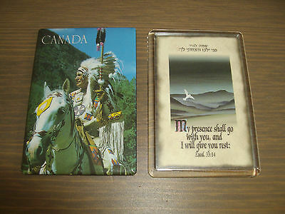2 x FRIDGE MAGNETS ~ CANADA & BIBLE QUOTE