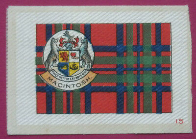 MACINTOSH Clan Tartan and Coat of Arms SILK card issued in 1922