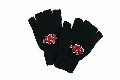 Naruto Anime Akatsuki Black Cotton Gloves