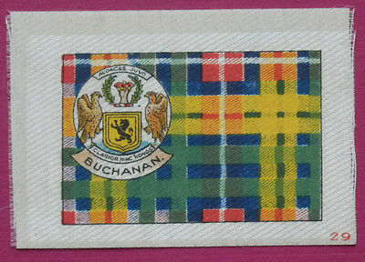 BUCHANAN Clan Tartan and Coat of Arms SILK card issued in 1922