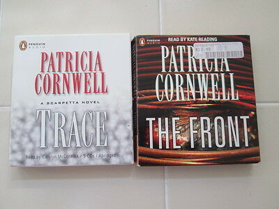 2 Audiobook CD Book Lot Patricia Cornwell The Friont & Trace 9 Discs
