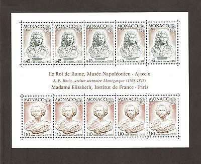 Monaco 1974 Europa Sculptures Miniature Sheet Unmounted Mint