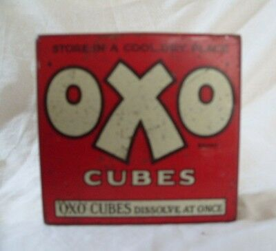 Square OXO tin with hinged lid