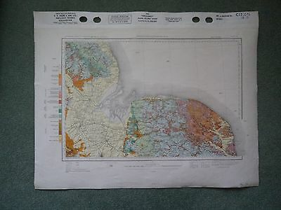 Special Ordnance Survey Geology CLOTH Map 12 Boston Louth Norwich Spalding