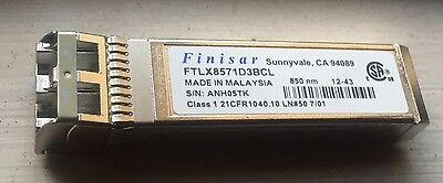 2 X Finisar FTLX8571D3BCL 10Gb/s SFP+ Transceiver Modules