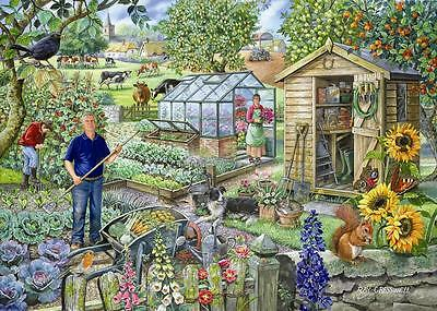 The House Of Puzzles - 500 BIG PIECE JIGSAW PUZZLE - At The Allotment Big Pieces