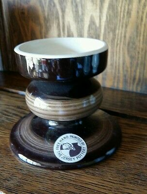 The Jersey pottery Hand Painted candlestick 1970s era