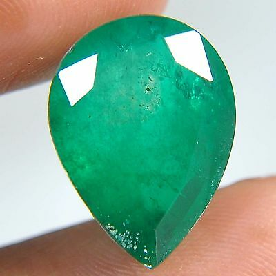 F13@ 10.50 Cts royal green emerald doublets quartz Pear cut gems to jewelry