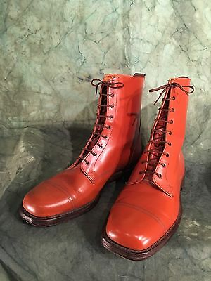 Vintage Northampton Boot Makers Bench Made Derby Boots UK 12