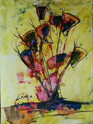 Jose lima. Abstract Painting Modern Pop Wall Art Contemporary Original Signed .