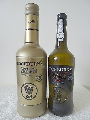COCKBURNS Special Reserve Port 200 Years Bottle (EMPTY) & Gold Cover