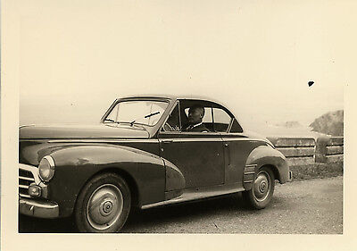 Photo Ancienne - Vintage Snapshot - Voiture Automobile Coupé Peugeot 203 - Car