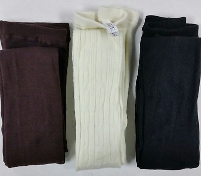 3 pair HUE Sweater Tights -  Flat Knit, Cable - sz M/L - New $60 (SW1-11-5)