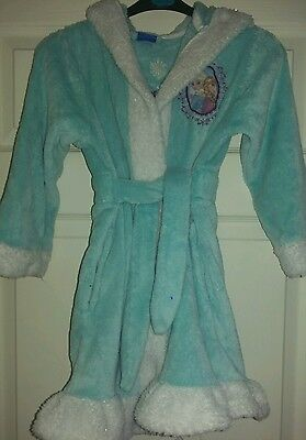 girls disney frozen dressing gown age 5-6 years