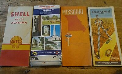 Vintage SHELL-STANDARD-DX & AAA Road Maps