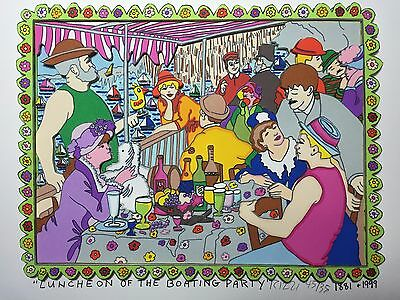 """Rizzi: original 3D """"LUNCHEON OF THE BOATING PARTY"""", handsigniert, CLASSIC Serie"""